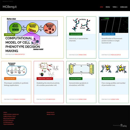 MCBeng schermata dell'home page
