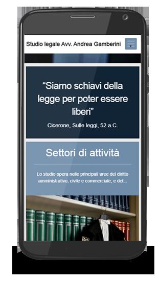sito visualizzato allo su uno smartphone