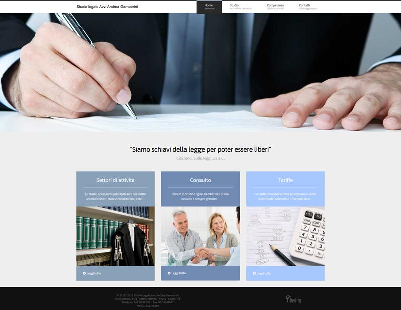 Home page Studio Legale Avv. Andrea Gamberini
